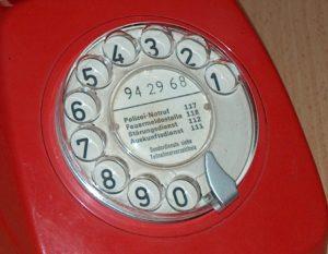 Waehlscheibe-kurzwahlnummern